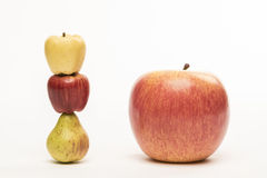 Little person. Haut comme trois pommes french expression. Stock Photo