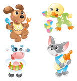 Little pets. Vector image, software: illustrator Stock Photos