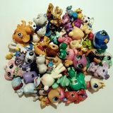 Little petsshop. Mini toys  funny colour circle composition Stock Image