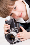 Little photographer royalty free stock photos