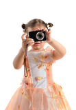Little photographer. Stock Image
