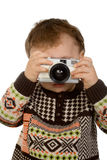 Little photographer Stock Images