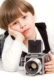 Little photographer Stock Photos