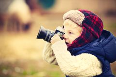 Little photographer Royalty Free Stock Images