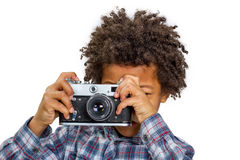 Little photographer. Stock Photos