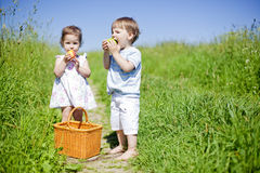 Little picnic royalty free stock images