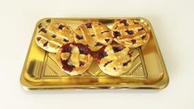 Little Pie. Italian pie with Strawberry jam Stock Photography