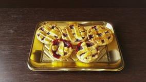 Little Pie. Italian pie with Strawberry jam Royalty Free Stock Image