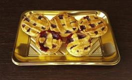 Little Pie. Italian pie with Strawberry jam Stock Photos