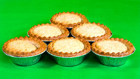 Six fruit pies Royalty Free Stock Images