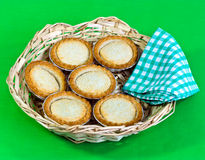 pies in basket Royalty Free Stock Photo
