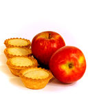 Little pies and apples Stock Photography