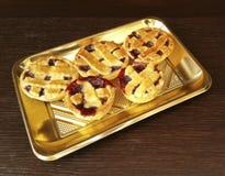 Little Pies. Italian pie with strawberry jam Stock Image