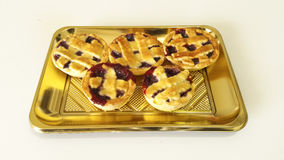 Little Pies. Italian pies with strawberry jam Royalty Free Stock Images