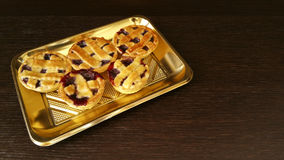 Little Pies. Italian pies with strawberry jam Stock Photo