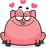 Little Pig in Love Royalty Free Stock Photography