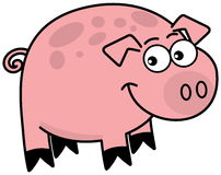 A little pig profile Royalty Free Stock Image