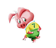 Little pig in sportswear Royalty Free Stock Image