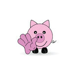 Little pig welcomes you vector illustration Royalty Free Stock Image