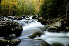 Little Pigeon River in Smoky Mountains. Little Pigeon River in Autumn in Tremont of Great Smoky Mountains National Park Royalty Free Stock Photography