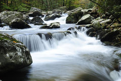 Little Pigeon River in Smoky Mountains Royalty Free Stock Photos