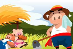 Little Pigs At Work Stock Images