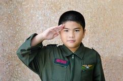 Little Pilot. Stock Photo