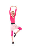 Little pink ballet dancer posing Stock Photos