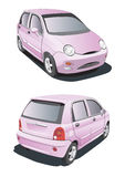 Little pink car. Vectorial image of little pink car isolated on white background Royalty Free Stock Image