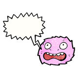 Little pink furry monster cartoon Royalty Free Stock Photography