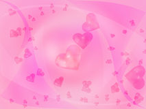 Little pink hearts. Stock Photography