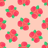 Little pink rose seamless background Stock Photography