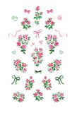 Little Pink Rose Set Royalty Free Stock Image