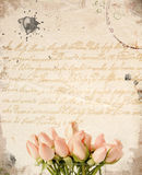 Little pink roses bouquet background Stock Images