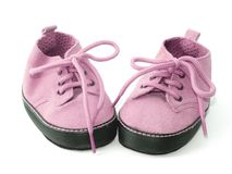 Little pink shoes royalty free stock photos