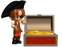 Little Pirate - Toon Figure Royalty Free Stock Images