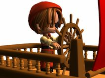Little Pirate - Toon Figure Stock Photo