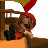 Little Pirate - Toon Figure Stock Photo