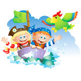 Little pirates royalty free stock photography