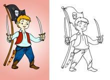 Little piratkopierar pojken Arkivfoton