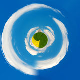Little planet of Beautiful summer rural landscape Royalty Free Stock Images