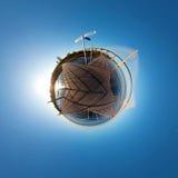 Little planet with bridge Stock Image
