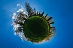 The Little Planet Chruch Stock Photos