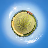 Little planet countryside Stock Image