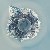 Little planet 360 degree sphere. Panoramic view of volcano and Avacha bay. Petropavlovsk-Kamchatsky, Kamchatka Royalty Free Stock Photography