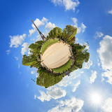 Little planet Eiffel Stock Photography