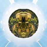 Little planet Englich countryside Stock Images