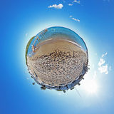 Little planet - France - Saint Tropeiz Stock Photo