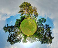 Little planet - Globe at summer time Royalty Free Stock Photo