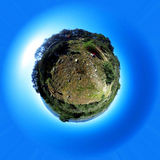 Little planet. Head Mount Medium. Madrid`s community. Spain Stock Photos